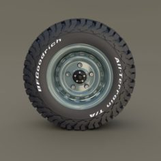 Offroad Steel Wheel AT 3D Model