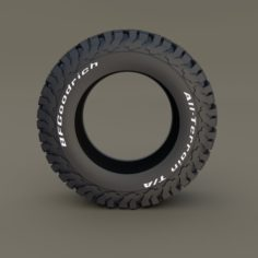 BF Goodrich AT Tire 3D Model