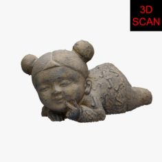 3D SCAN CHILD STATUE 3D Model