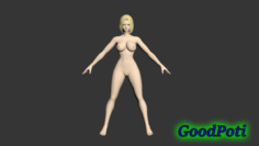 Sexy girl Lera 3D Model