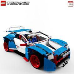 Lego 42077 Rally Car 3D Model