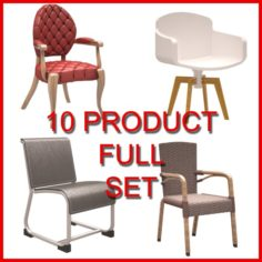 Chair Set 01 10 Product 3D Model