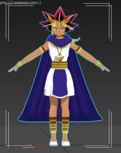 Faraon Atem from yu-gi-oh 3D Model