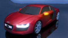 Audi car r8 Free 3D Model