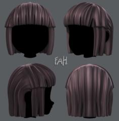 3D Hair style for girl V11 3D Model