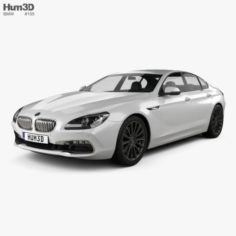 BMW 6 Series Gran Coupe F06 2015 3D Model