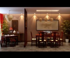 Family – kitchen – restaurant 418 3D Model