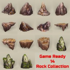 Game Ready Stone Rocks Collection 3D Model