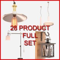Interior Lamp Set 02 28 Product 3D Model