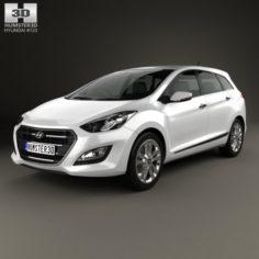 Hyundai i30 Elantra Wagon UK 2015 3D Model