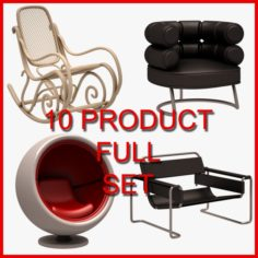 Chair Set 03 10 Product 3D Model