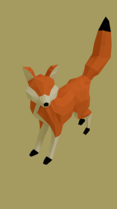 Low poly fox Free 3D Model
