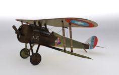Nieuport 28 C1 French WW1 biplane fighter 3D Model