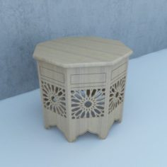 Traditional Moroccan Table 3D Model