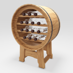 Barrel Stand For Wine 3D Model