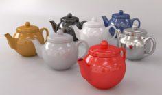 Colorful Teapot Set 3D Model
