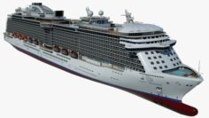Cruise Ship Majestic Princess 3D Model