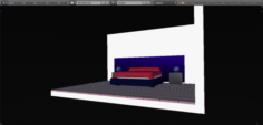 Fourth room mattress bed 3D Model