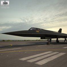 Lockheed SR-71 Blackbird 3D Model