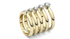 Solitaire rings Collection 3D print model 3D Model