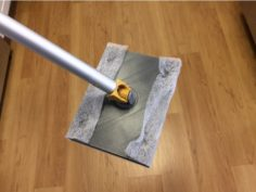 Square mopper that recycles clothes dryer sheets 3D Print Model