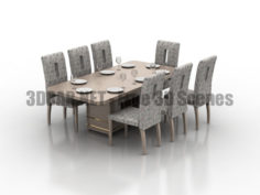 Dining Table set 3D Collection