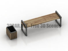Bench urn 3D Collection