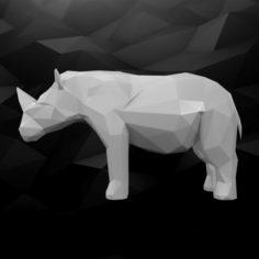 3D Printable Rhino Model 3D Model