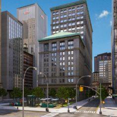 Metropolis City Block 3D 3D Model