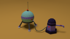 Colony mars mobile game hydrant 3D 3D Model
