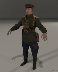 Soviet Infantry Officer 1943 3D Model