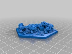 Wood tile with Yeti 3D Print Model