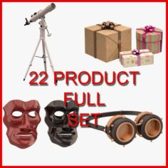 Hobby and Decor Set 04 22 Product 3D Model