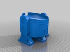 R2D2 Google Home Mini Upright 3D Print Model