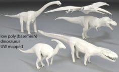 Dinosaur-5 peaces-low poly-part 5 3D Model
