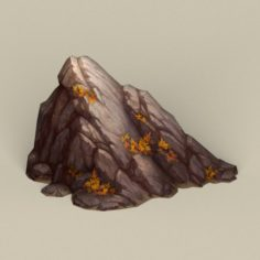 Game Ready Stone Rock 06 3D Model