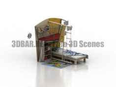 HABA childrens room bedroom 3D Collection
