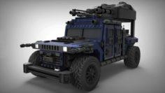 Humvee War Machine 3D Model