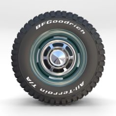 Toyota Land Cruiser FJ 40 Wheel 2 3D Model