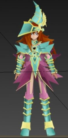 Valkiria the magician from yu-gi-oh 3D Model