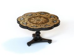 Round Table Foyer Table Dining Table sketchup model Free 3D Model