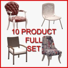 Chair Set 02 10 Product 3D Model