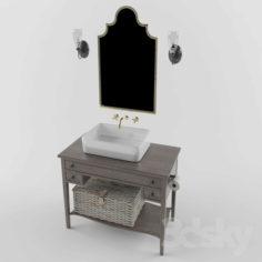 Vintage Bathroom set                                      Free 3D Model