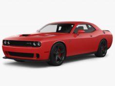 Dodge Challenger SRT Hellcat 2018 3D Model