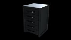 Modern Vertical Dresser 3D Model
