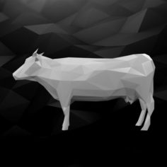 3D Printable Cow Model 3D Model