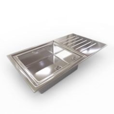 Kitchen Sink – 1 Bowl 3D Model