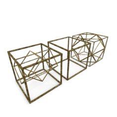 Geometric Decor Objects – Cube Frames 3D Model