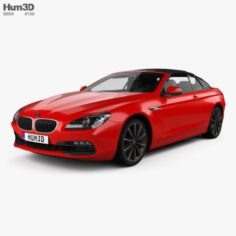 BMW 6 Series F12 Convertible 2015 3D Model