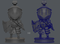 Armor Character 3D Model